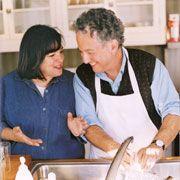Ina & Jeffrey Garten - Any fan of Ina knows her husband Jeffrey, and all of Ina's lady fans have a crush on him.   He's adorable.  Of course we are all loyal to Ina. We would never go out with Jeffrey unless Ina took a wild hair and ran off with her Mexican pool boy, or unless she wanted to be sister wives!  She would cook for us, of course! RW