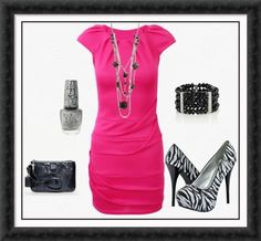 Hot Pink and Zebra Print Business/Formal Party Attire. This would be great for a meeting!