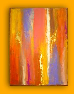 Original Acrylic Abstract Painting Fine Art on by orabirenbaum, $465.00