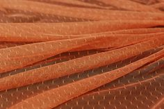 1 Meter of Very Soft Salmon Dotted Tulle