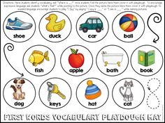 FREE First Words Playdough mat for little learners!