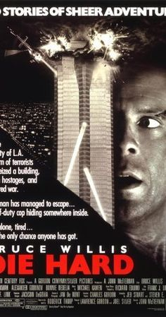 Directed by John McTiernan.  With Bruce Willis, Alan Rickman, Bonnie Bedelia, Reginald VelJohnson. John McClane, officer of the NYPD, tries to save wife Holly Gennaro and several others, taken hostage by German terrorist Hans Gruber during a Christmas party at the Nakatomi Plaza in Los Angeles.