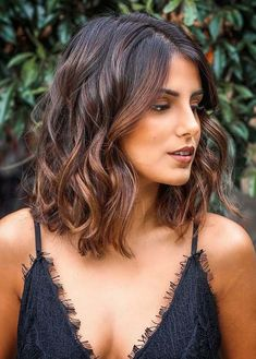 40 great long bob ombre hairstyles created in great long bob ombr . - 40 great long bob ombre hairstyles created in 2018 – 40 great long bob ombre hairstyles to be cre - Brown Ombre Hair, Ombre Hair Color, Brown Hair Colors, Fall Hair Color For Brunettes, Curly Hair Styles, Medium Hair Styles, Hair Medium, Long Bob Ombre, Long Curly Bob