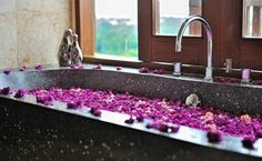 Who wouldn't want to bathe in flowers?