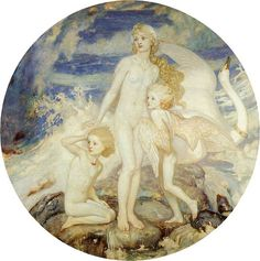 Источник Урд: One of the leading representatives of the Celtic Revival in Scottish art, John Duncan first trained as an illustrator in his native city, Dundee. After periods of work and study in London and Antwerp, Duncan settled in Edinburgh in Dundee, Fairy Music, John Duncan, Irish Mythology, Templer, Legends And Myths, Pre Raphaelite, Art Uk, Gods And Goddesses