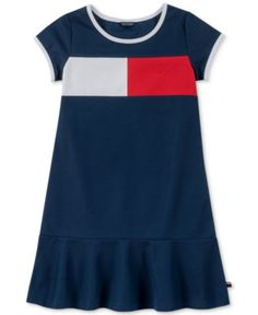 134b03e4ee Tommy Hilfiger Little Girls Pique Logo Dress - Blue 5