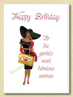 Female Birthday Cards Bday African Americans Happy Africans Birthdays