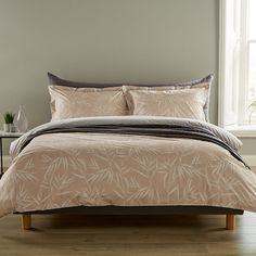 Bamboo silhouette pattern duvet with matching pillowcases in delicate blush pink, £75 (sale price) for the super king from Amara affiliate partner Duvet Sets, Duvet Cover Sets, Bamboo Headboard, Bedroom Furniture, Bedroom Decor, Retro Bedrooms, Mid Century Modern Bedroom, Bedroom Vintage, Bed Throws