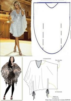 Patterns by means of which even the schoolgirl will manage to sew a dress the hands.What About Amazing Easy Sewing Projects ? Tunic Sewing Patterns, Sewing Blouses, Clothing Patterns, Dress Patterns, Fashion Sewing, Diy Fashion, Ideias Fashion, Moda Fashion, Sewing Dress