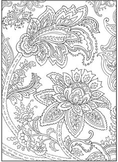 Paisley Flowers Abstract Doodle Coloring pages colouring adult detailed advanced…