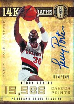 "Terry Porter 2012-13 Panini ""Gold Standard"""