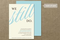 We Still Do Anniversary Party Invitations Cards