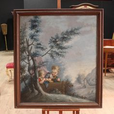 3300€ Ancient French painting depicting landscape with children of the early nineteenth century. Visit our website www.parino.it #antiques #antiquariato #painting #antiquities #antiquario #dipinto #quadro #art #arte #decorative #interiordesign #homedecoration #antiqueshop #antiquestore