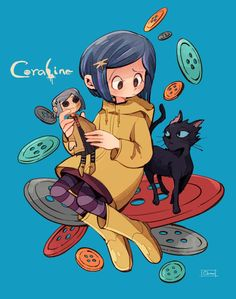 Coraline & The Cat || Coraline || By Oama_000 (Twitter)