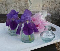 Vase en verre soliflore 3 assortis, pas cher - tartifumedéco