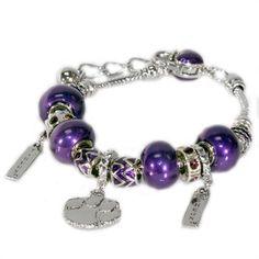 Clemson Beaded Charm Bracelet ($24.95)