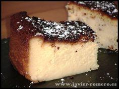 Tarta de queso cremosa, receta casera