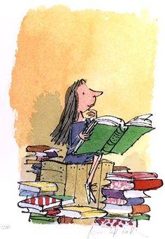 My Fav illustrator, Quentin Blake, in my favorite children author, Roald Dahl's books.