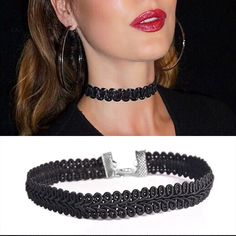 summer bohemia Newest fashion jewelry accessories Black Lace Wave Choker necklace for couple lovers' -03328