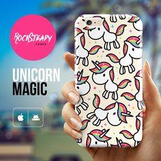 Caja del teléfono del Unicornio caso iPhone 7 por RockSteadyCases