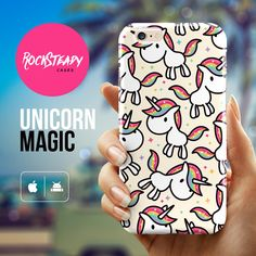 Cartoon unicorn iPhone 6 case iPhone 6s case par RockSteadyCases