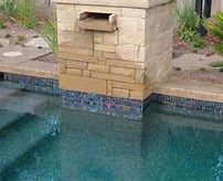 stacked stone pool designs - Bing images
