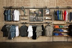 Floto+Warner studio - buy + sell display in 2019 бутик, розн Clothing Store Interior, Clothing Store Displays, Clothing Store Design, Retail Fixtures, Store Fixtures, Vitrine Design, Store Layout, Retail Store Design, Men Styles