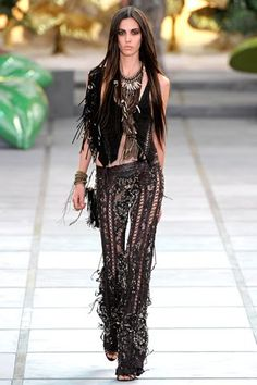 roberto cavalli spring 2011 collection, Boho, Bohemian, Gypsy, Hippie, Jewellery, Aztec, Tribal, Style, fashion, look, dress, jacket, skirt, shorts, summer, festival, beach,