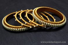 """An all time favorite post on how to """"Make Silk Thread Jewellery"""" updated with new pictures and tutorial links. Try making these exotic pieces Silk Thread Bangles Design, Silk Bangles, Silk Thread Earrings, Thread Jewellery, India Jewelry, Handmade Jewellery, Bangles Making, Jewellery Making, Tread Art"""