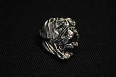Dog de Bordeaux head dog pin limited edition by ArtDogshopcenter