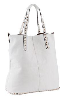 STUDS DECO HANDLES & BOTTOM LINE SHOPPER BAG City Bag, Shopper Bag, Studs, Deco, Bags, Accessories, Handbags, Stud Earring, Decor