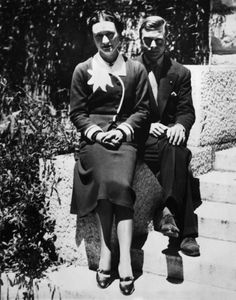 first wedding anniversary, Chateau de la Croe, Antibes, France, June 3, 1938.  The allure of Wallis can no longer be seen as elusive; she offered a weak personality a way out of a role for which he was unfit and at some deep level knew it. Their relationship, with its evident aspects of emotional and physical humiliation, enabled him to punish himself for what he always knew was a dereliction of duty.