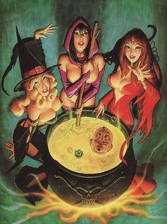 Witches - Over for Dinner by Fastner & Larson (Steve Fastner and Rich Larson