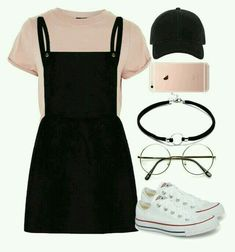 A fashion look from August 2017 featuring Topshop t-shirts, Converse sneakers and rag & bone hats. Browse and shop related looks. Outfits Designer Clothes, Shoes & Bags for Women Teenage Outfits, Teen Fashion Outfits, Mode Outfits, Cap Outfits, Fashion Fashion, Fashion Shops, Fashion Ideas, Winter Fashion, Fashion Black