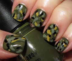 Army Camouflage Nails