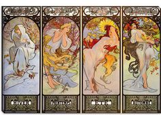 Les Saisons by Alphonse Mucha Canvas Art Print 1432 by iCanvasART, $349.99