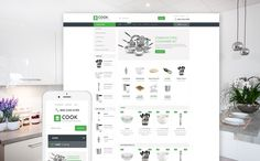 17+ Furniture, Cookware, Homeware Supplies Ecommerce Store Shopify Themes - Cook