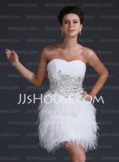 Homecoming Dresses - $168.99 - A-Line/Princess Sweetheart Knee-Length Sequined Feather Homecoming Dress With Lace Beading (022017377) http://jjshouse.com/A-Line-Princess-Sweetheart-Knee-Length-Sequined-Feather-Homecoming-Dress-With-Lace-Beading-022017377-g17377