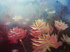 ESTIVAL 057 23 'Flowers'  série peinture acrylique  2015 ( 29 x  38,5 cm ) 160 grs