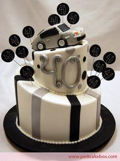 Porsche Topsy Turvy Birthday Cake
