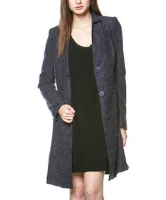 Look at this miilla  Purple Wool-Blend Coat on #zulily today!