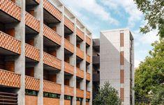 The Carpenter Hotel Brings Boutique Hotel Charm to the Southwest - Design Milk Masonry Blocks, Hotel Architecture, Commercial Architecture, Architecture Design, Quonset Hut, Shade Canopy, Sense Of Place, Brutalist, Building Design
