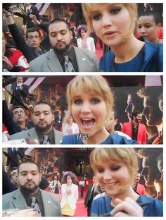 "Fan: ""Jennifer, say hi to the camera!"""