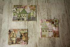 Canvas trio with decoscrap~Καμβάδες με decoscrap Vintage World Maps, Scrapbooking, Painting, Decor, Art, Art Background, Decoration, Painting Art, Kunst