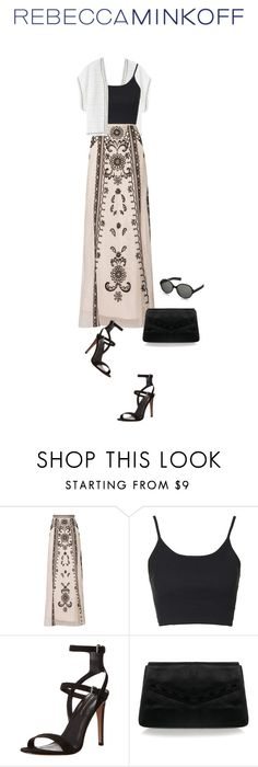 """From Rebecca with Love."" by saraishi ❤ liked on Polyvore featuring Rebecca Minkoff, Temperley London, Topshop, women's clothing, women, female, woman, misses, juniors and rebeccaminkoff"