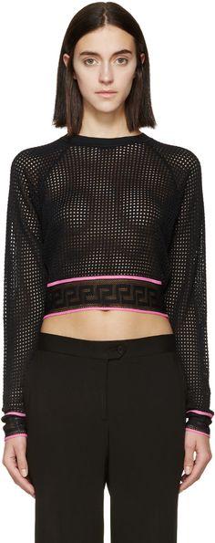 Versace - Black & Pink Mesh Shirt