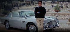 Pierce Brosnan as James Bond in front of the Aston martin DB5 for the 1995 film GoldenEye.