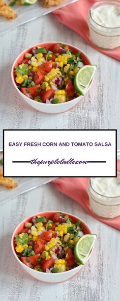 Easy fresh corn sals
