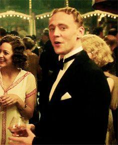 Tom Hiddleston as F. Scott Fitzgerald in Midnight in Paris, Dir.Woody Allen, 2011.  With Marion Cotillard.