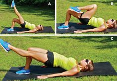 Leg extension with hip thrust - exercises for Brazilian butt - IMAGE - Women's Health & FItness